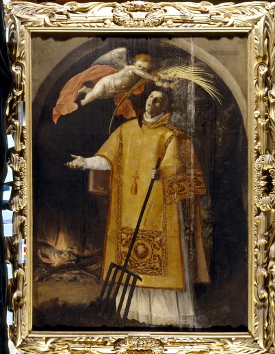 ST LAWRENCE, attributed to Juan Luis Zambrano of Cordoba, c1620, at Tyntesfield, North Somerset