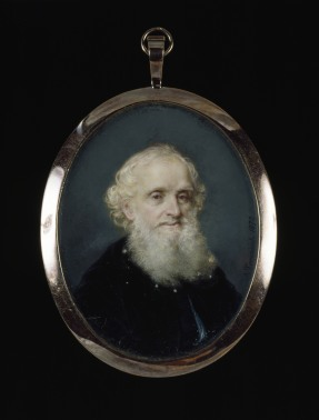 WILLIAM GIBBS by Antonio Tomasich y Haro, 1872, a miniature at Tyntesfield, North Somerset